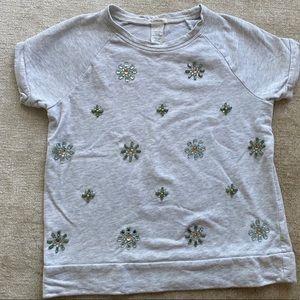 J. Crew girls jewel embellished sweatshirt